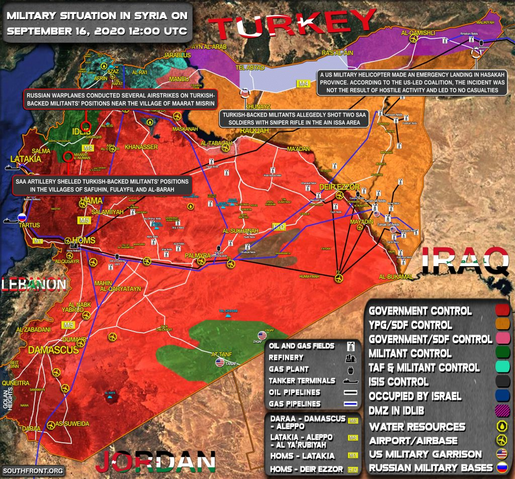 Military Situation In Syria On September 16, 2020 (Map Update)