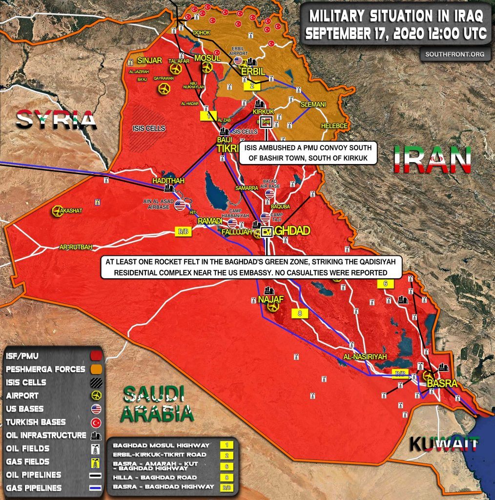 Military Situation In Iraq On September 17, 2020 (Map Update)