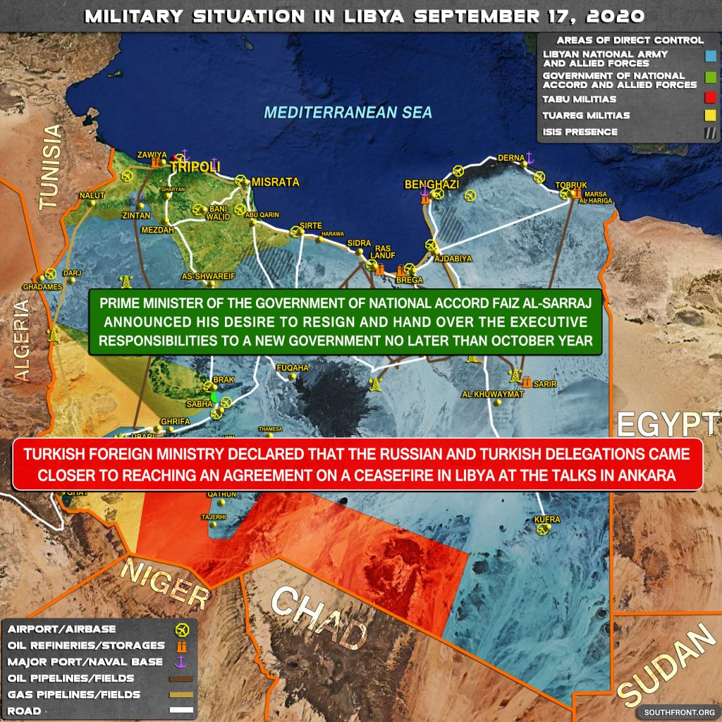 Military Situation In Libya On September 17, 2020 (Map Update)