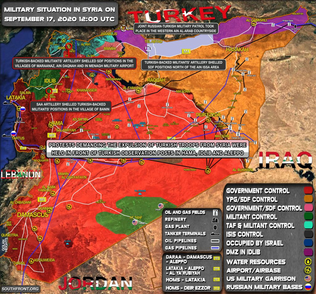 Military Situation In Syria On September 17, 2020 (Map Update)