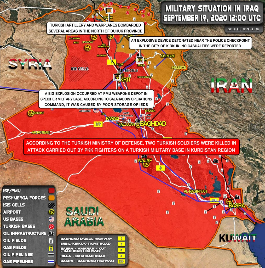 Military Situation In Iraq On September 19, 2020 (Map Update)