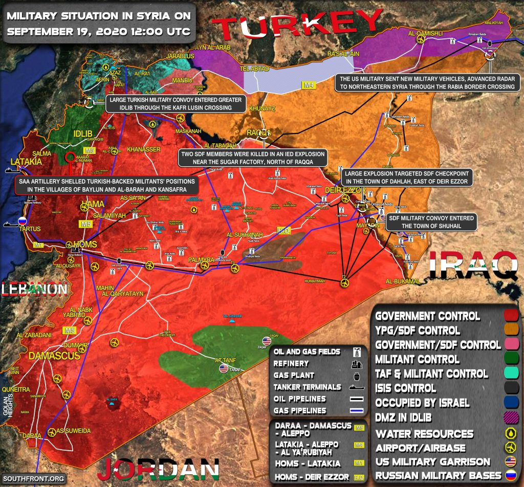Military Situation In Syria On September 19, 2020 (Map Update)
