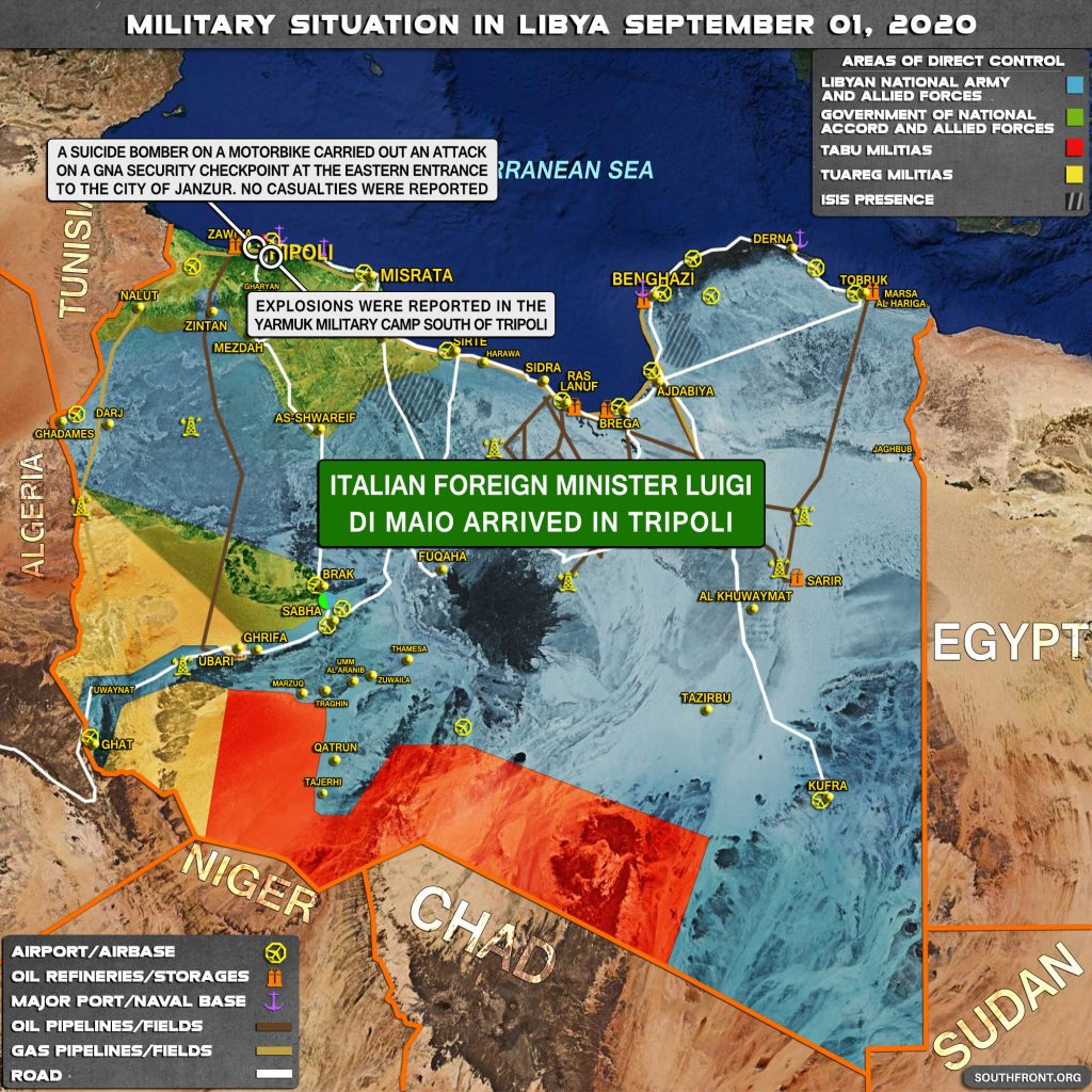 Military Situation In Libya On September 1, 2020 (Map Update)