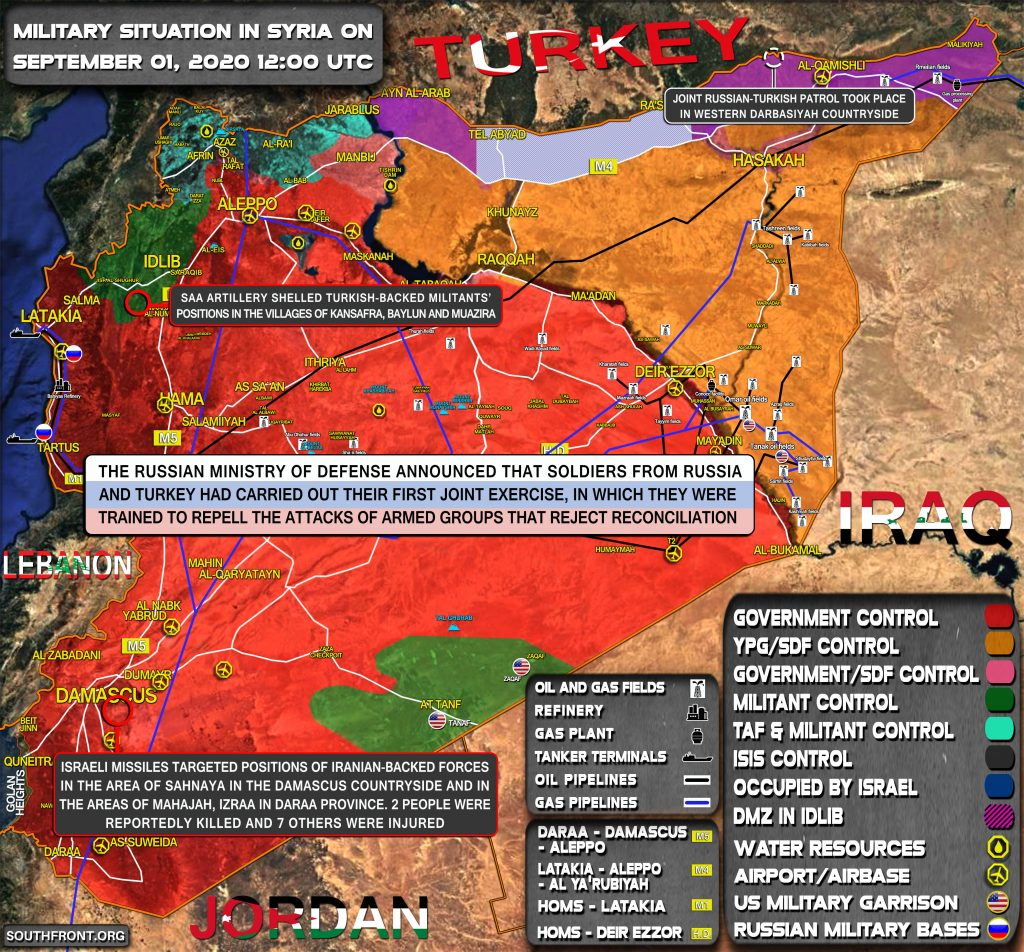 Military Situation In Syria On September 1, 2020 (Map Update)
