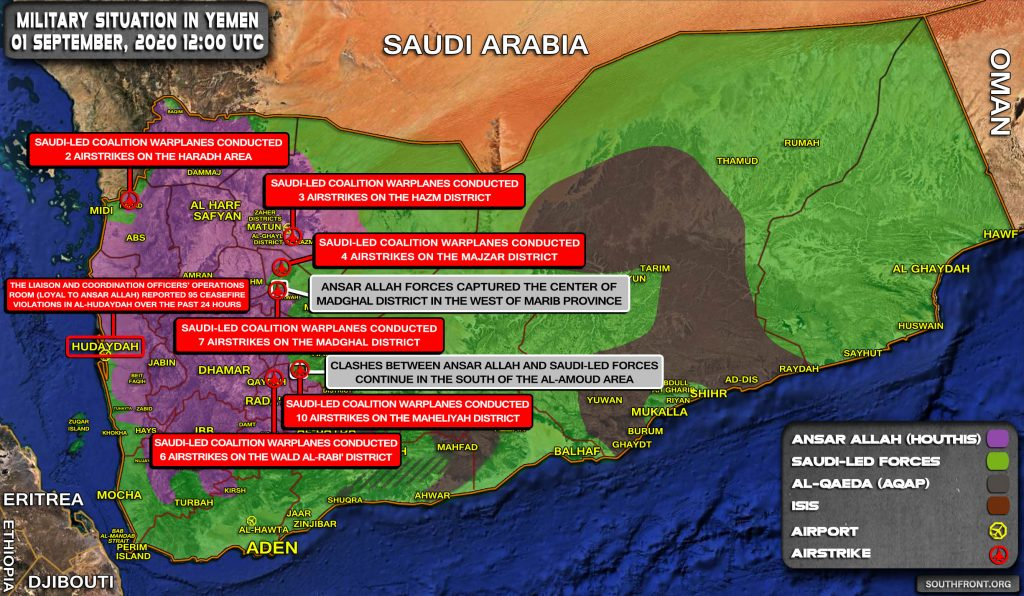 Military Situation In Yemen On September 1, 2020 (Map Update)