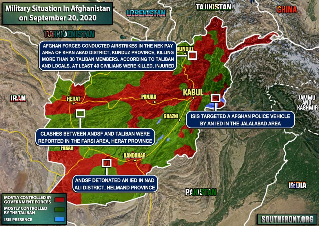 Dozens Killed In Airstrikes On Taliban Amid Intra-Afghan Peace Talks (Map Update, Photos)