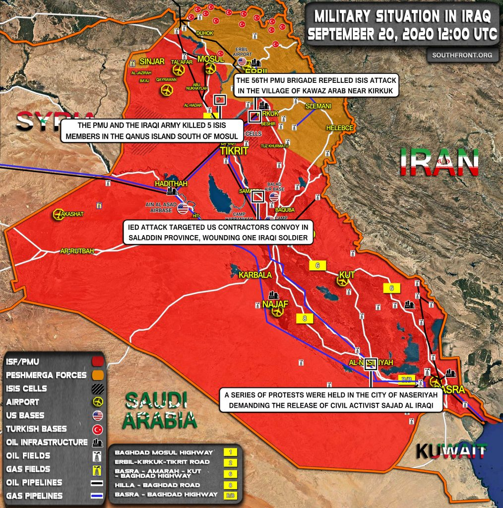 Military Situation In Iraq On September 20, 2020 (Map Update)