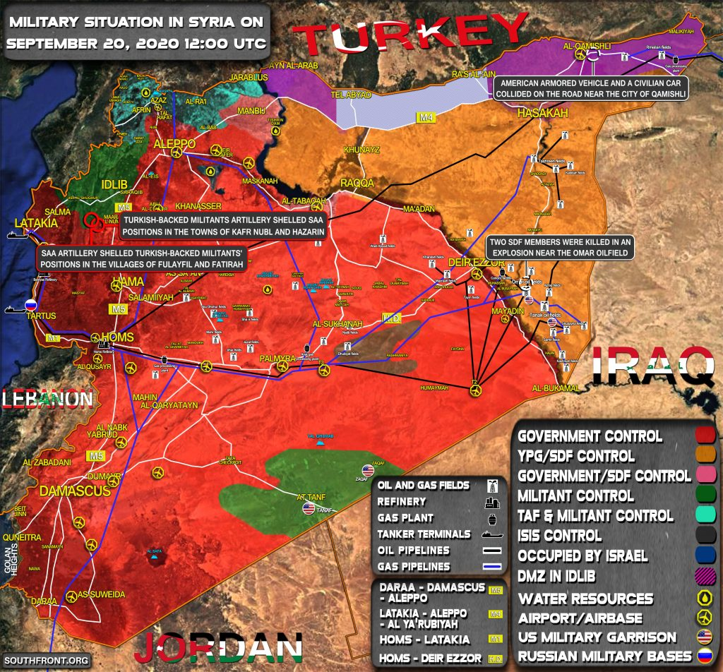 Military Situation In Syria On September 20, 2020 (Map Update)