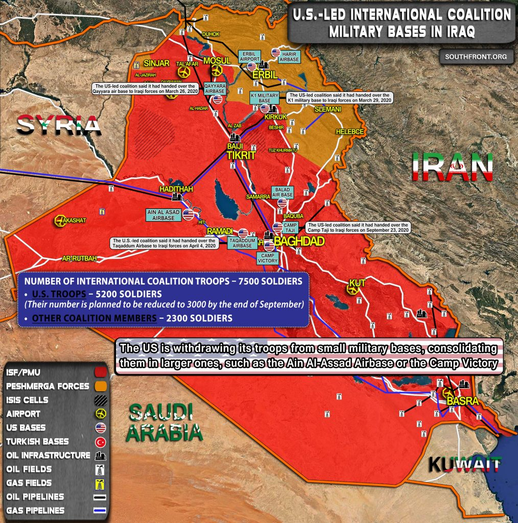 U.S.-Led International Coalition Military Bases In Iraq (Map Update)