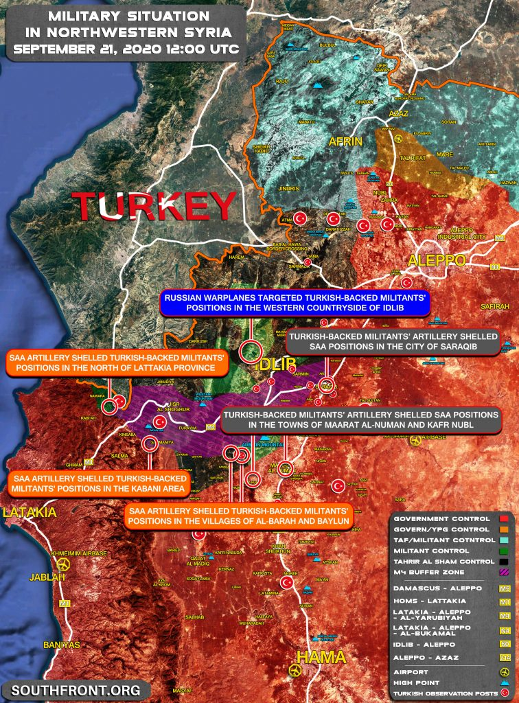 Artillery Fire Exchange Continues in Syria's Greater Idlib (Map Update)