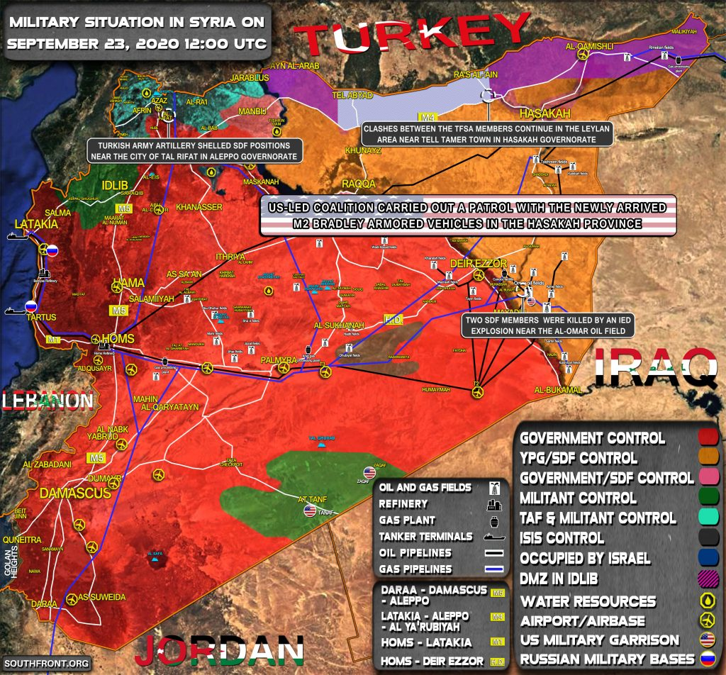 Military Situation In Syria On September 23, 2020 (Map Update)