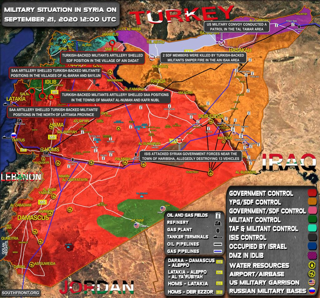 Military Situation In Syria On September 21, 2020 (Map Update)