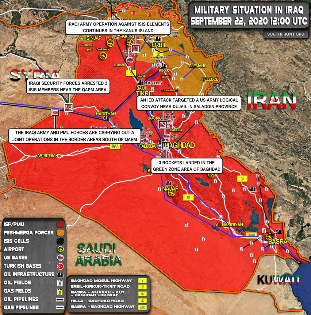 Military Situation In Iraq On September 22, 2020 (Map Update)
