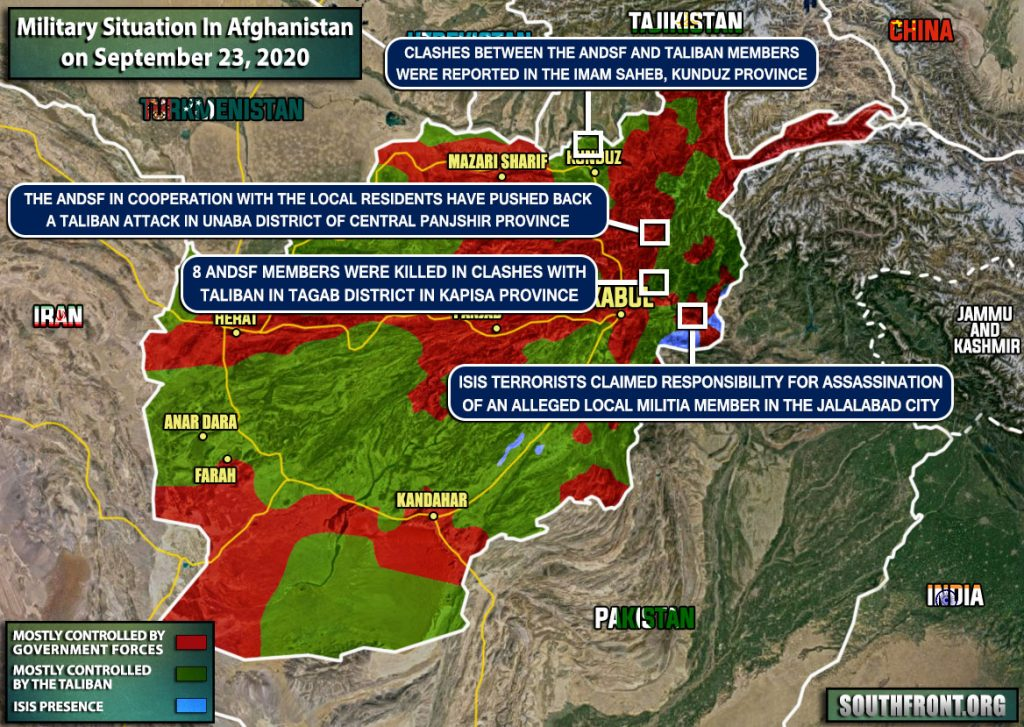 Military Situation In Afghanistan On September 23, 2020 (Map Update)