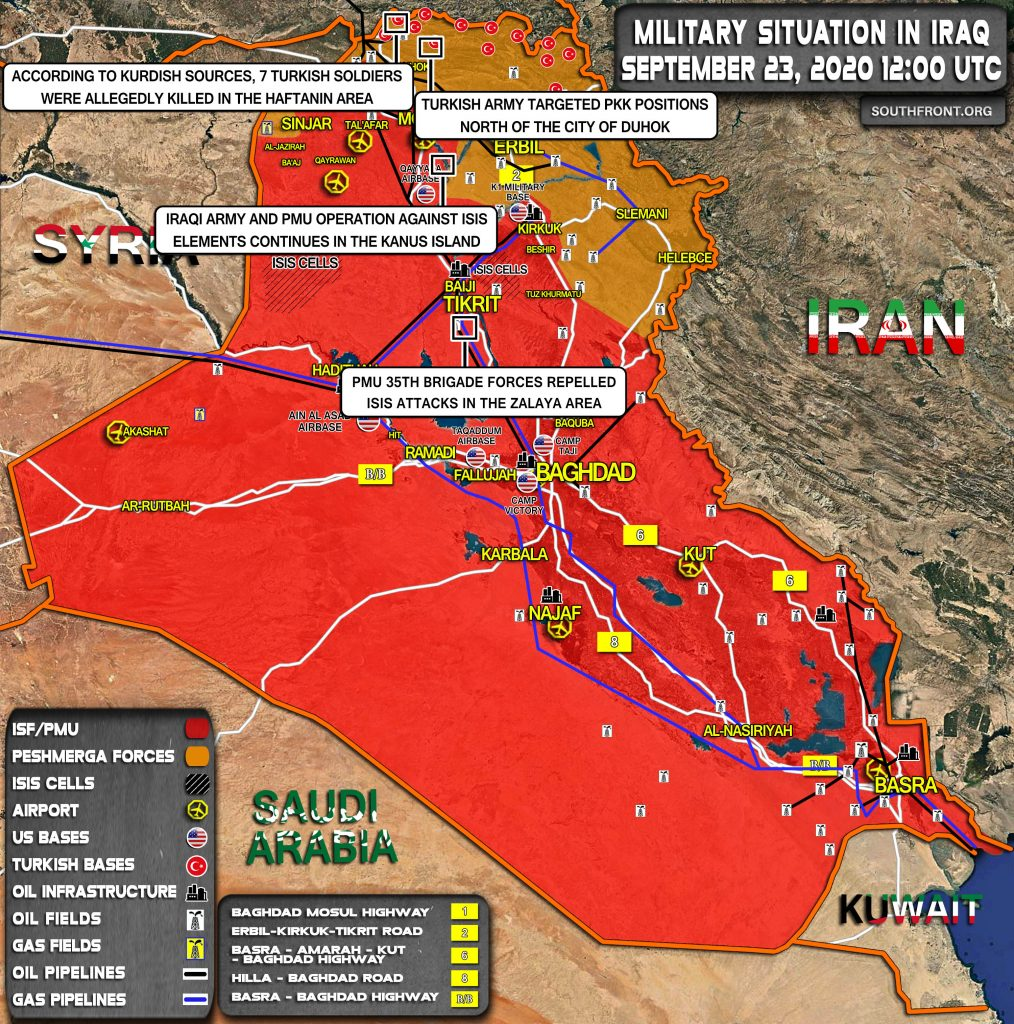 Military Situation In Iraq On September 23, 2020 (Map Update)