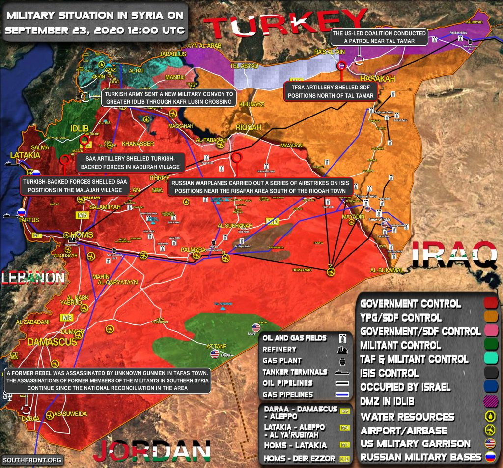 Military Situation In Syria On September 24, 2020 (Map Ipdate)