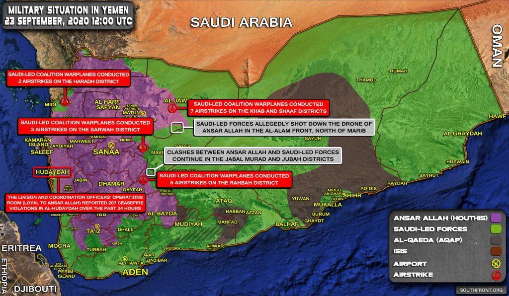 Military Situation In Yemen On September 24, 2020 (Map Update)