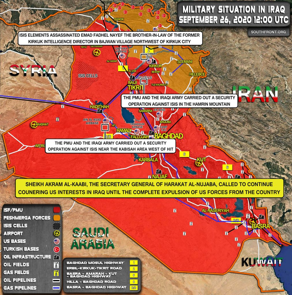 Military Situation In Iraq On September 26, 2020 (Map Update)