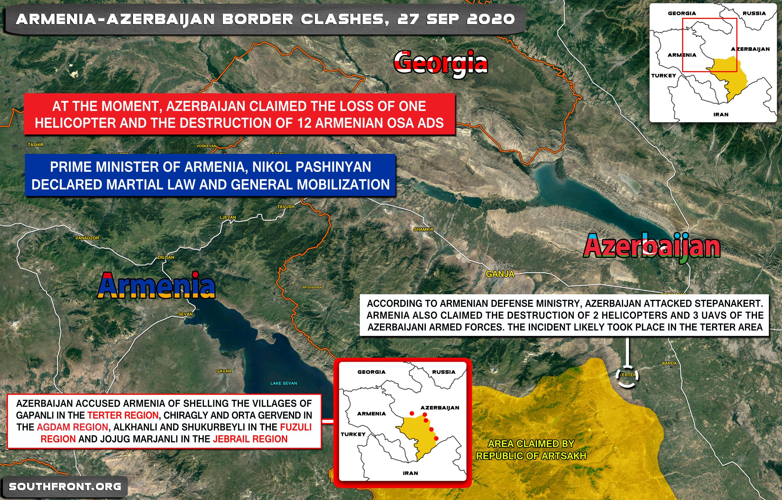 Azerbaijan Makes First Gains In Emerging War Against Armenia Map Video