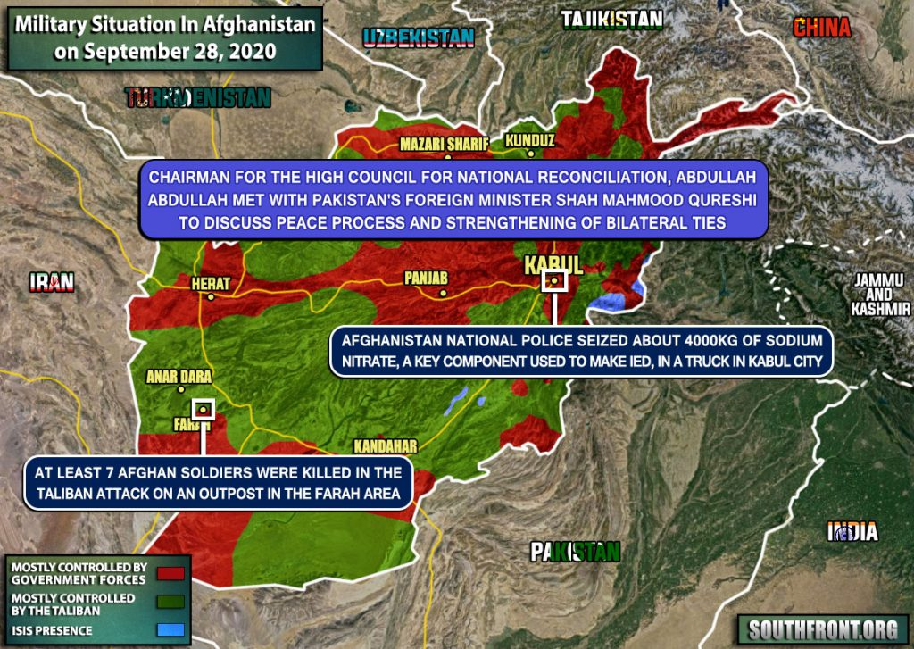 Taliban Attack Killed 20 Afghan Soldiers (Map Update)