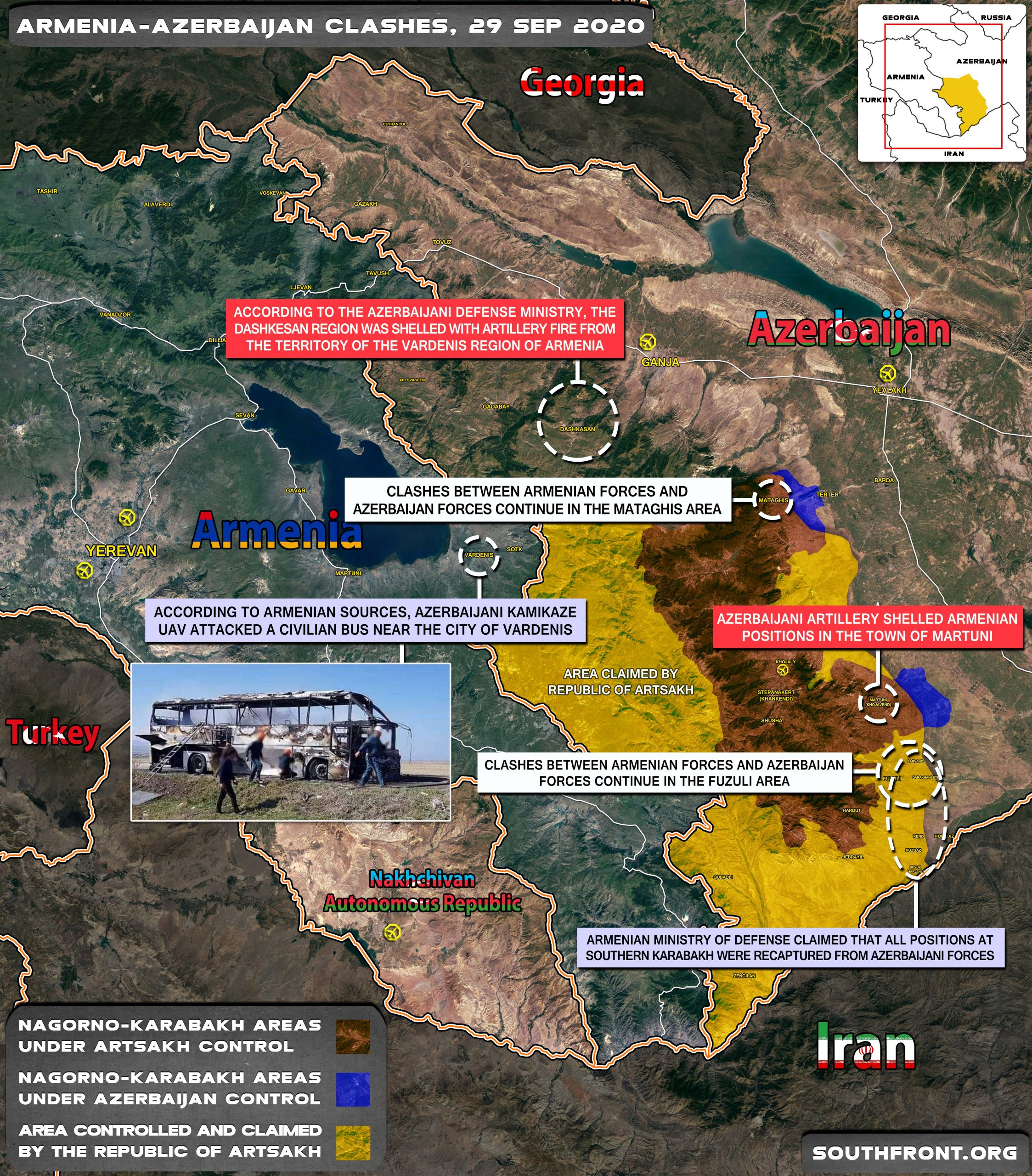 Military Situation In Nagorno Karabakh On September 29 2020 Map Update