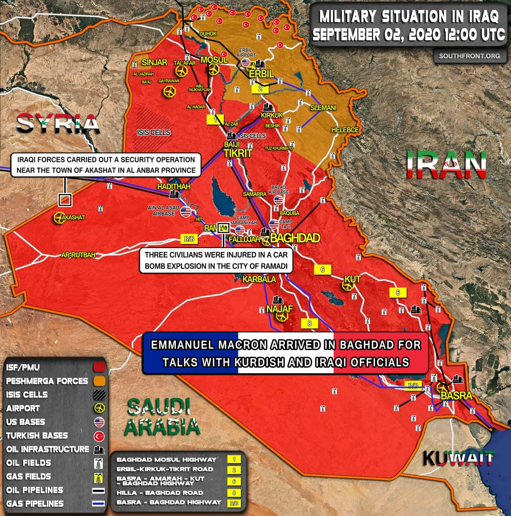 Military Situation In Iraq On September 2, 2020 (Map Update)
