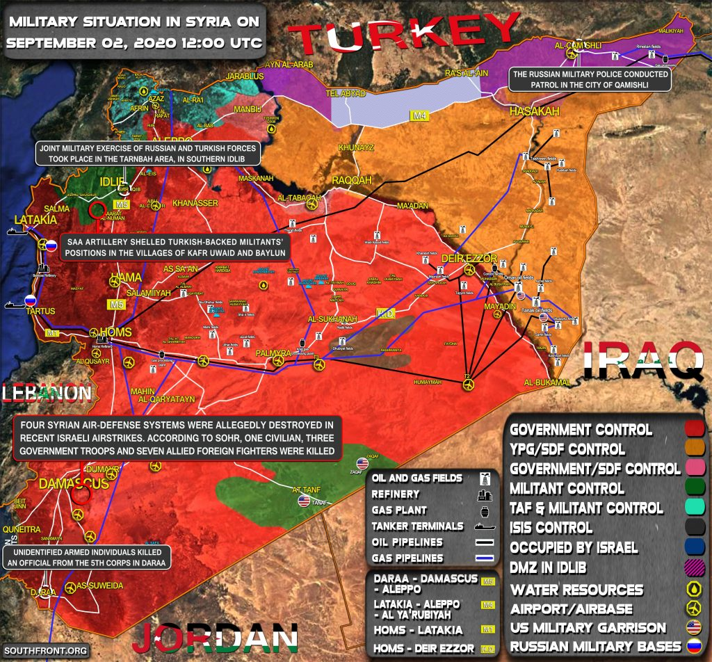 Military Situation In Syria On September 2, 2020 (Map Update)