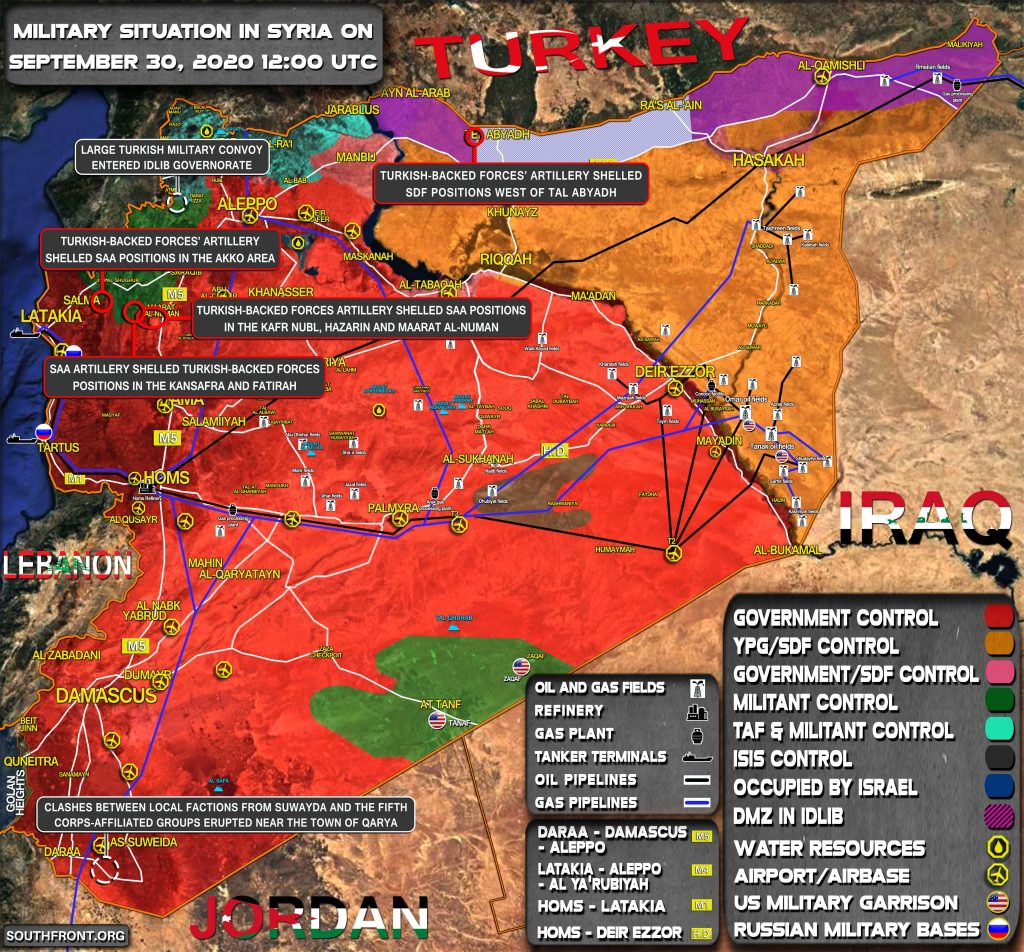 Military Situation In Syria On September 30, 2020 (Map Update)