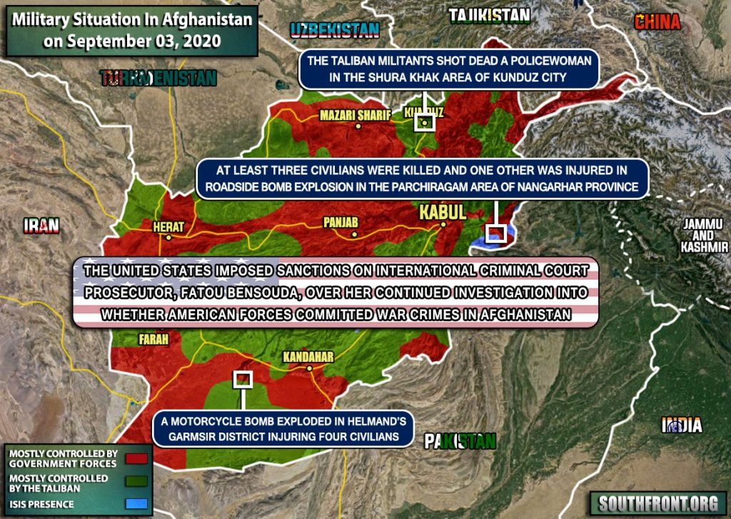 Military Situation In Afghanistan On September 3, 2020 (Map Update)