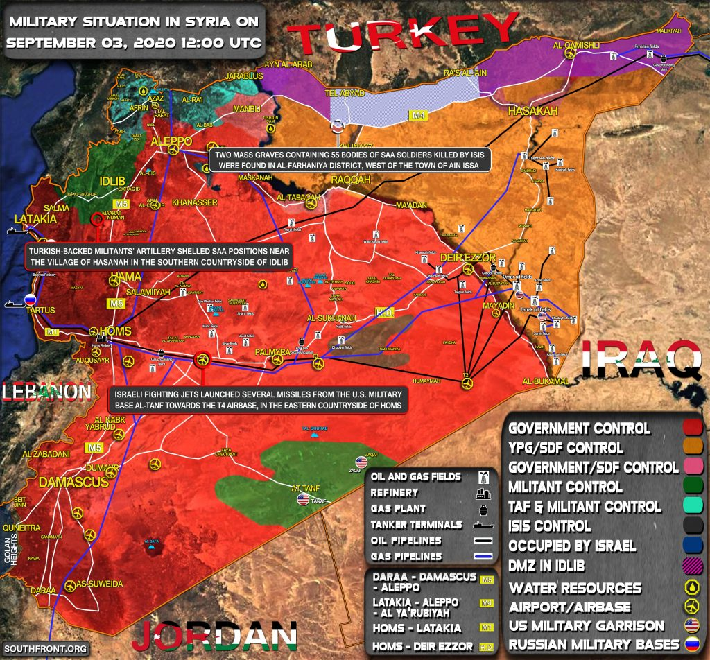 Military Situation In Syria On September 3, 2020 (Map Update)