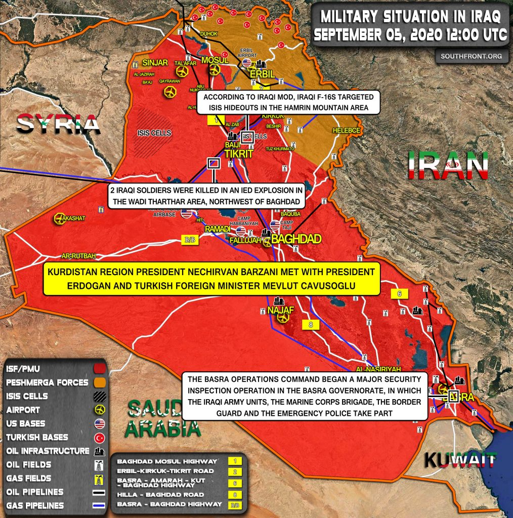 Military Situation In Iraq On September 5, 2020 (Map Update)