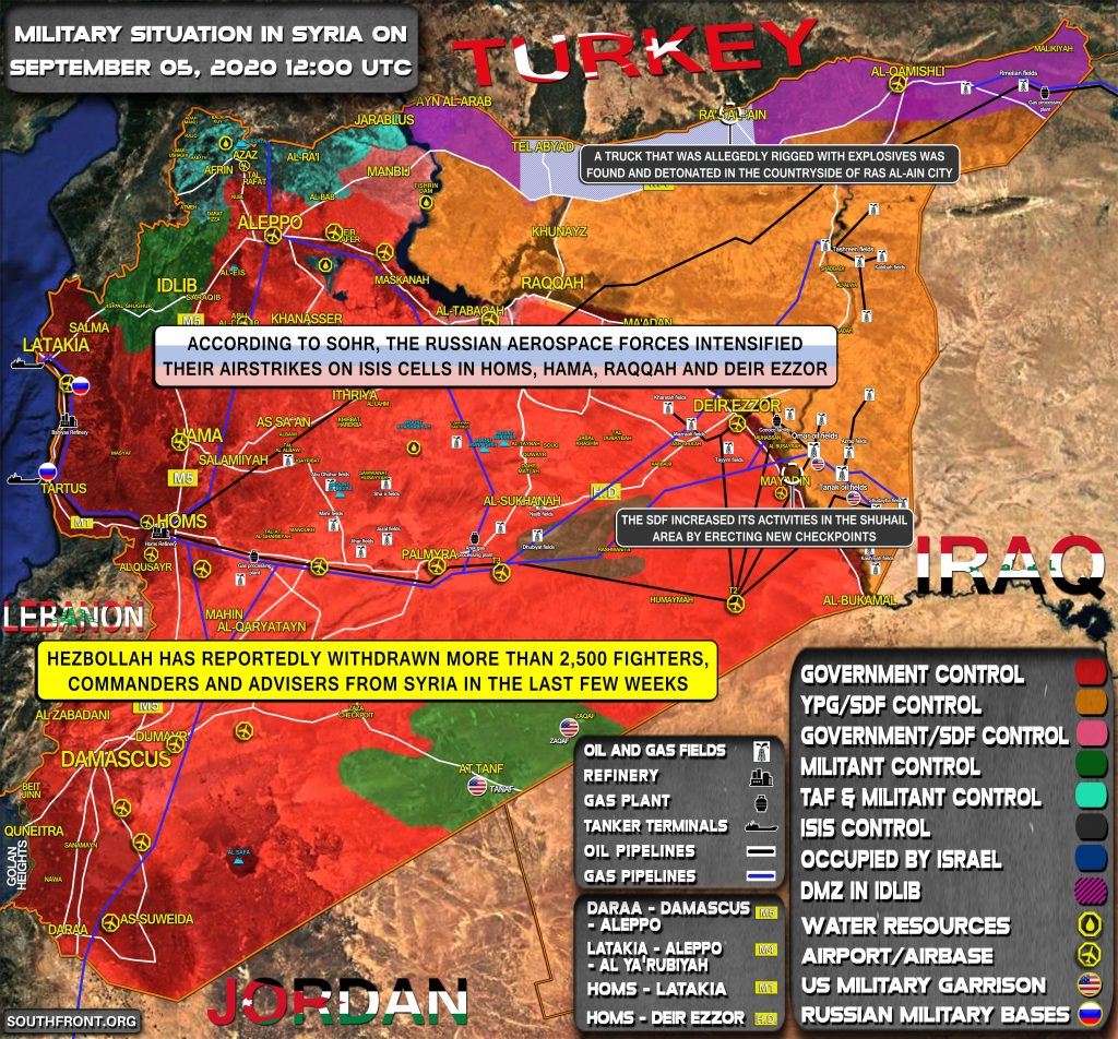 Military Situation In Syria On September 5, 2020 (Map Update)