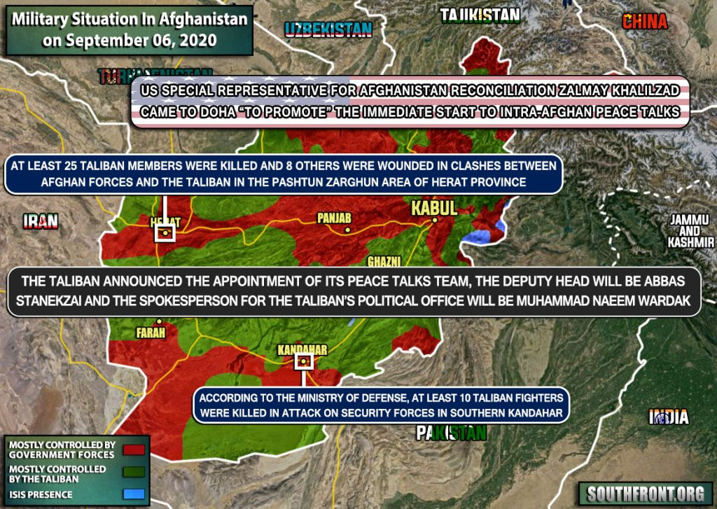 Military Situation In Afghanistan On September 6, 2020 (Map Update)