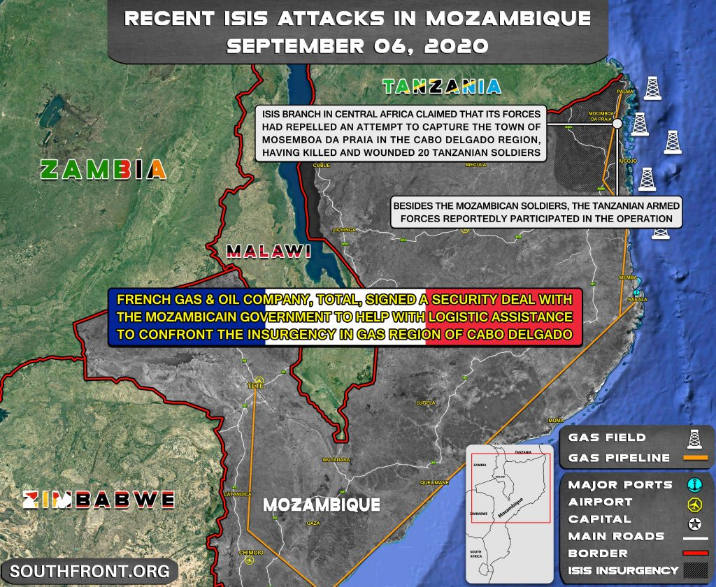 Recent ISIS Attacks In Mozambique - September 6, 2020 (Map Update)
