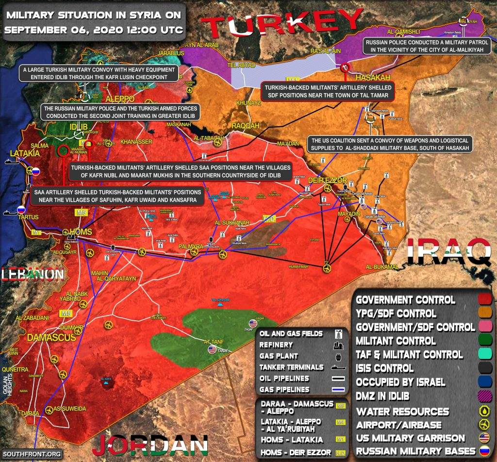 Military Situation In Syria On September 6, 2020 (Map Update)
