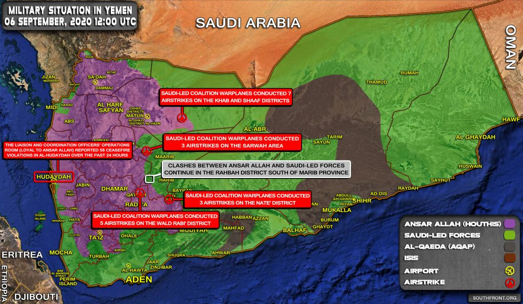 Military Situation In Yemen On September 6, 2020 (Map Update)