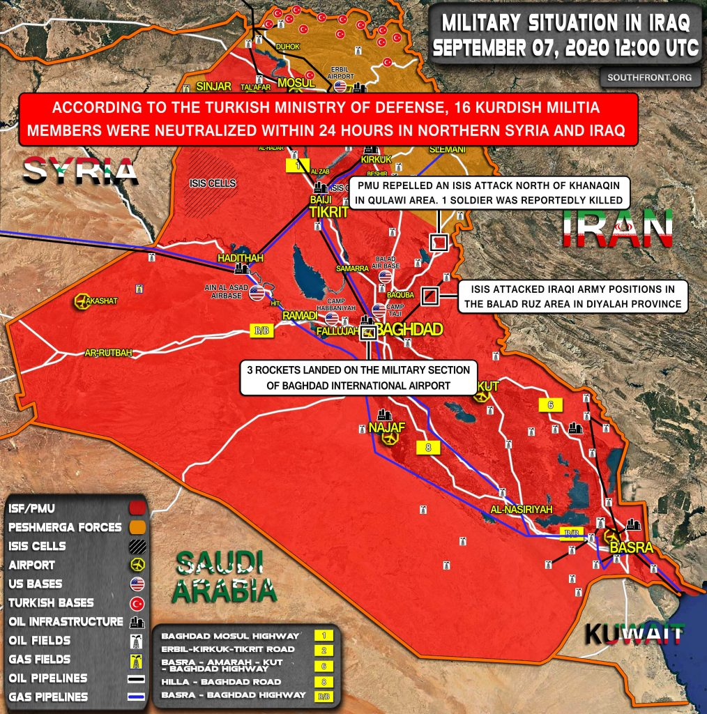 Military Situation In Iraq On September 7, 2020 (Map Update)