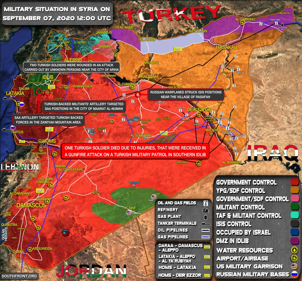 Military Situation In Syria On September 7, 2020 (Map Update)