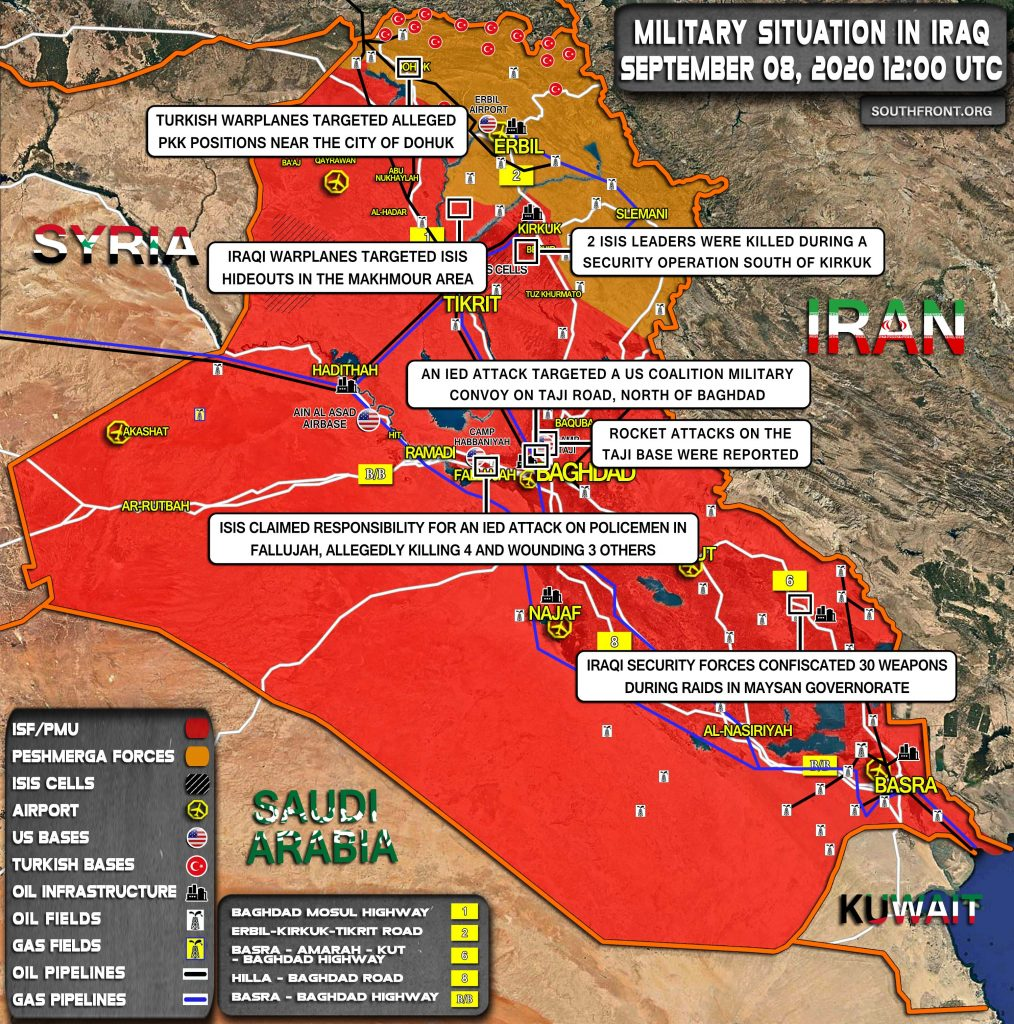 Military Situation In Iraq On September 8, 2020 (Map Update)