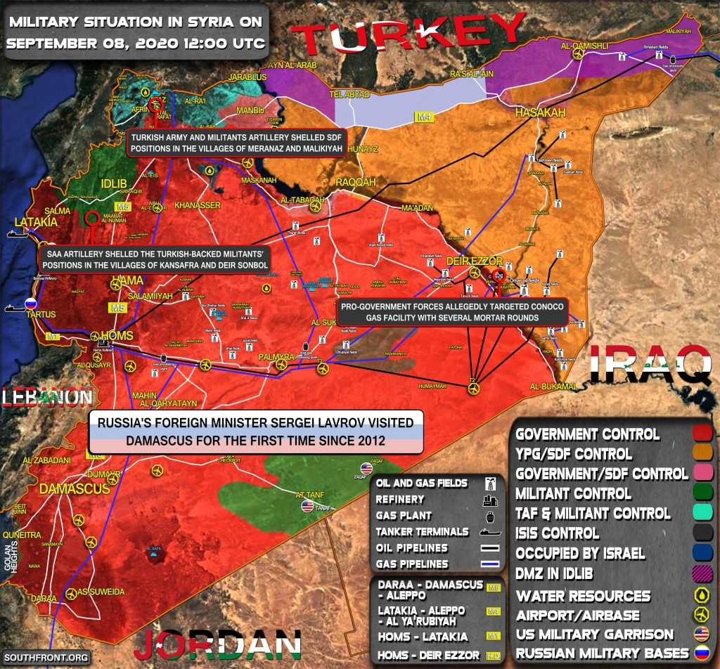 Military Situation In Syria On September 8, 2020 (Map Update)