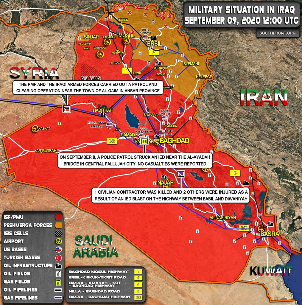 Military Situation In Iraq On September 9, 2020 (Map Update)