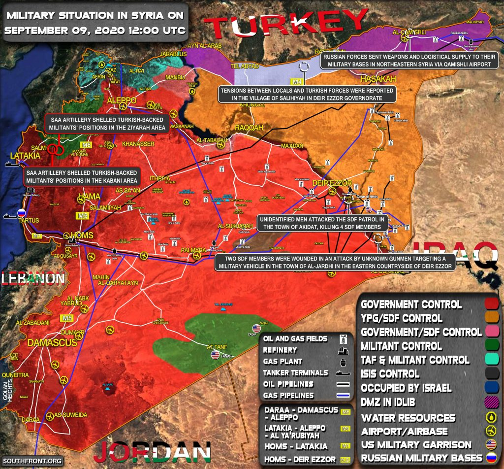 Military Situation In Syria On September 9, 2020 (Map Update)