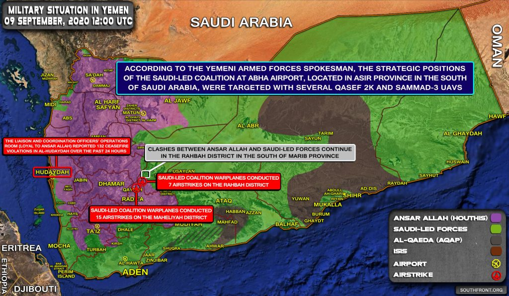 Houthi Drones Strikes Target Airfield In Southern Saudi Arabia