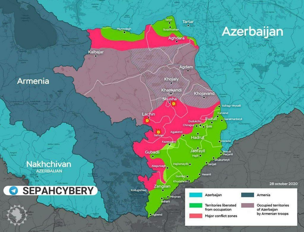 Clashes South Of Shusha. Azerbaijani Troops Are 5km Away From Second Largest Town Of Nagorno-Karabakh (Maps, Videos)