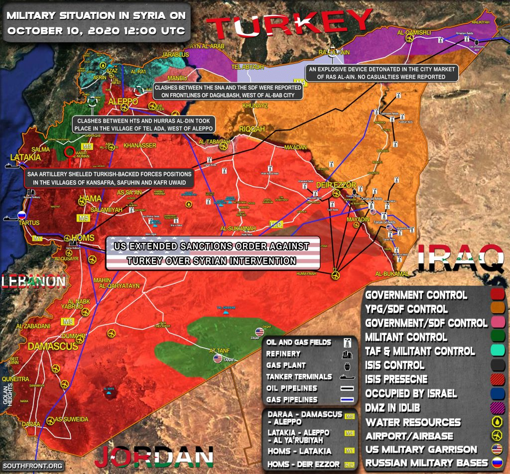 Military Situation In Syria On October 10 (Map Update)