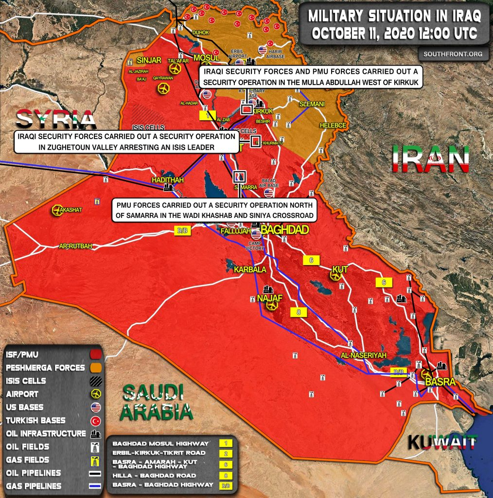 Military Situation In Iraq On October 11, 2020 (Map Update)