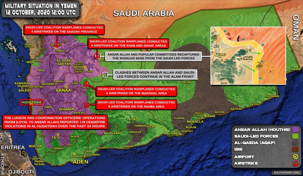 Ansar Allah Recaptured Military Base In Northern Yemen (Map Update)