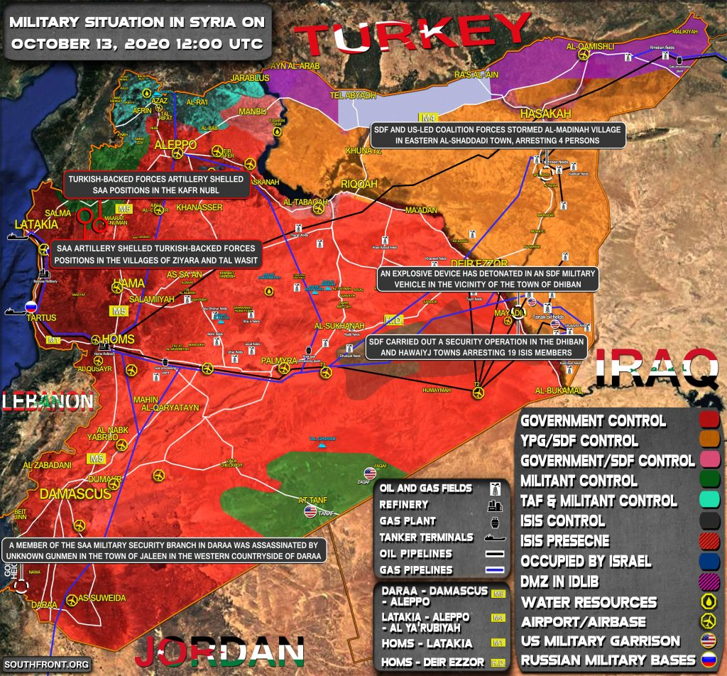 Military Situation In Syria On October 13, 2020 (Map Update)