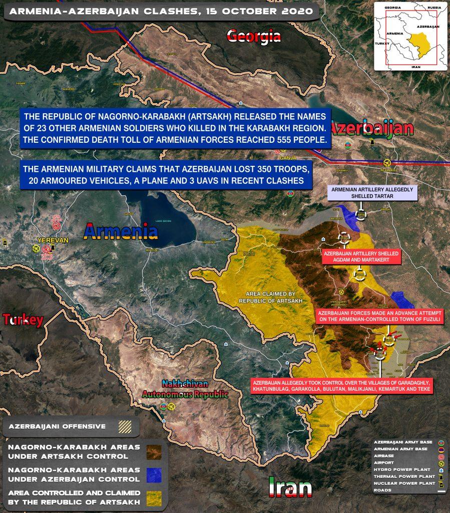Map Update: Armenian-Azerbaijani War On October 15, 2020