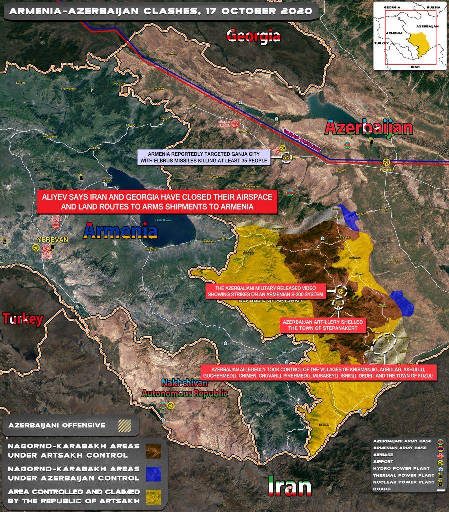 Map Update: Armenian-Azerbaijani War On October 17, 2020